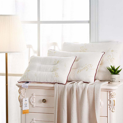 Disney迪士尼 泰國進口顆粒乳膠乳膠枕頭學生宿舍天然橡膠枕芯天然乳膠枕定制 一只裝30x50cm