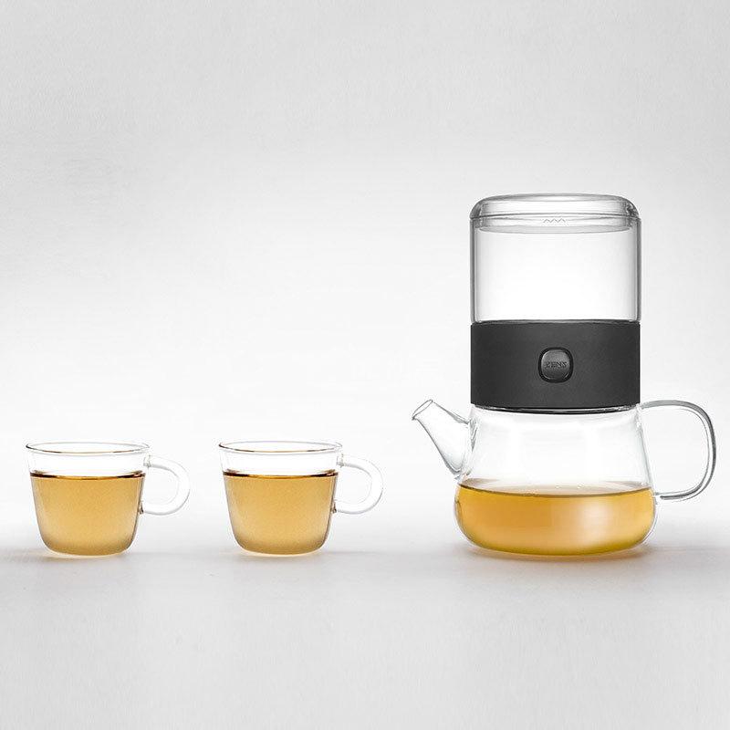 哲品派杯分享套装一壶两杯玻璃2人功夫茶具套装定制