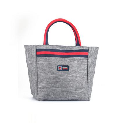 手拎午餐飯盒袋 保溫袋學生便當袋定制