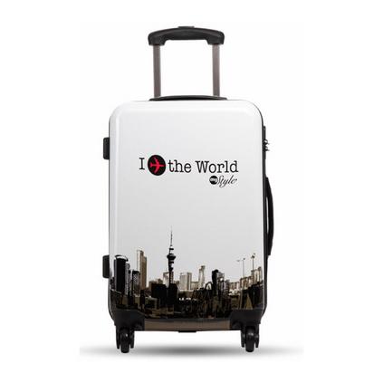 20寸 印花ABS+PC定制飛機輪拉桿箱登機行李箱定制