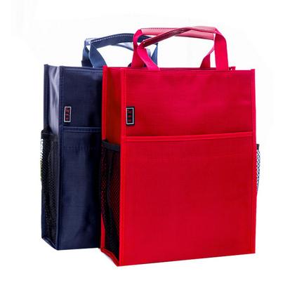 三層拉鏈手提文件袋定制a4資料袋防水牛津布袋定制logo