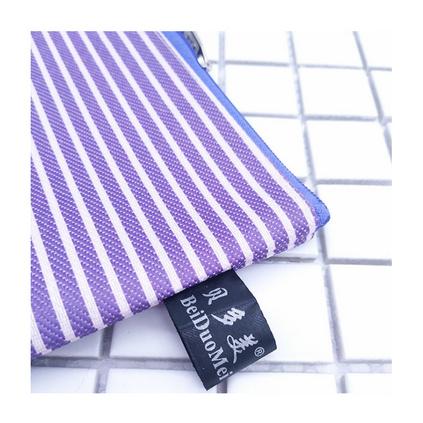 单层065牛津布A4文件袋 防水帆布拉链袋 条纹资料袋定制