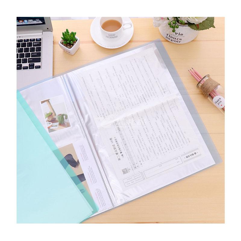 A3透明资料册8K图纸册8开文件夹透明插页夹收纳20页文件夹定制