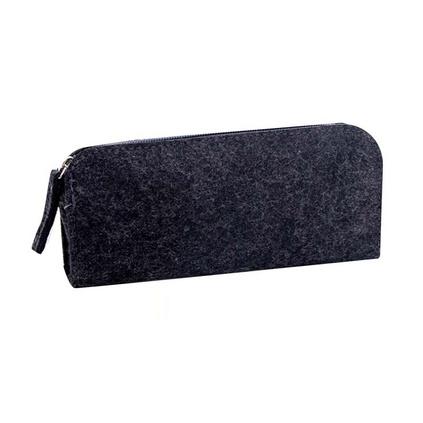 大容量鉛筆袋男女中學生文具袋毛氈布純色復古簡約筆袋定制