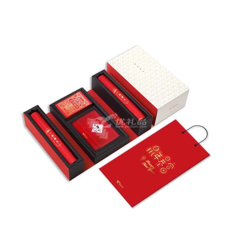 创意新年礼盒套装定制 商务新年礼品 年会礼盒定制