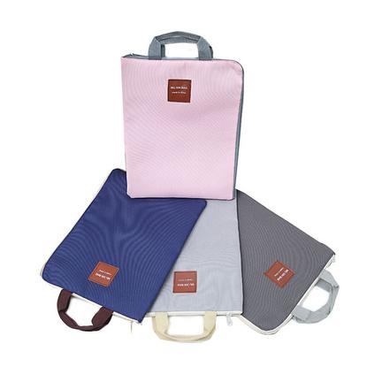 貝多美韓國拉鏈多功能多層A4文件袋學生手提iPad電腦包定制