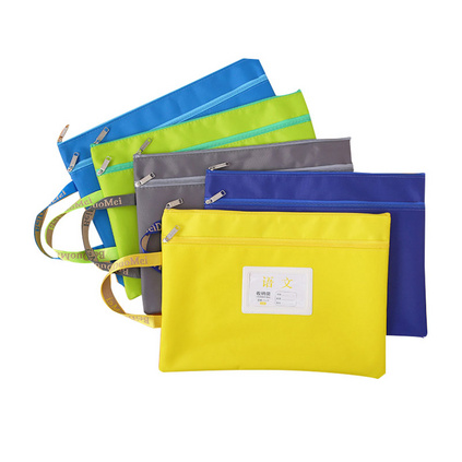 科目分類文件袋拉鏈帆布A4小學生用分類大容量試卷收納袋書袋定制