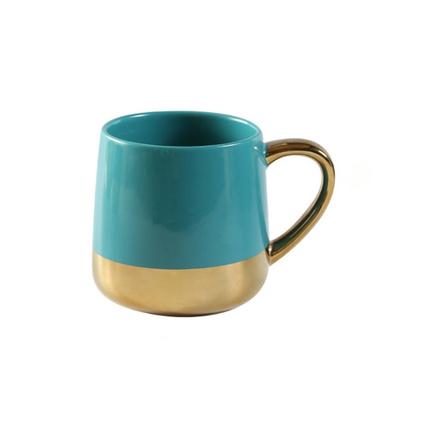 歐式小奢華金邊手柄咖啡杯 創意高檔陶瓷家用馬克杯 下午茶杯具定制
