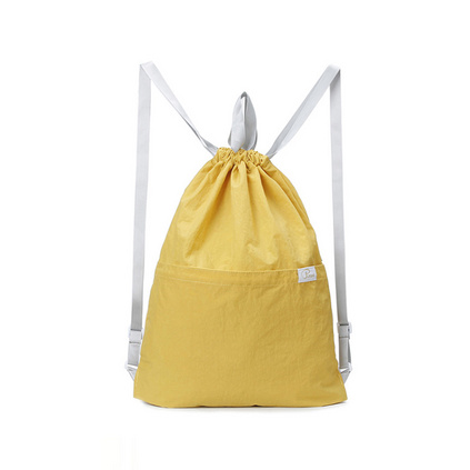 P.travel便攜折疊背包 束口袋抽繩雙肩包 手提雙肩背包 運動休閑款定制