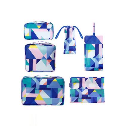 P.travel 旅行收納6件套 行李箱收納 旅行用品 衣物收納套裝定制