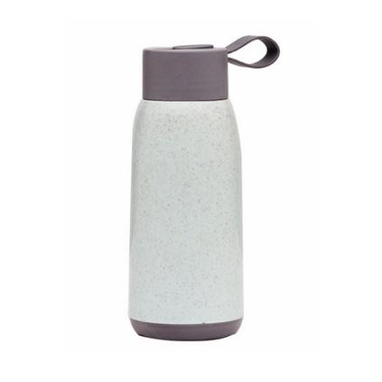 創意塑殼雙層小麥秸稈麥香杯廣告促銷禮品玻璃杯可定制