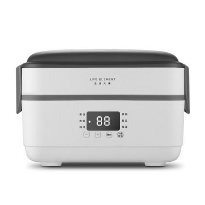 生活元素F6電熱飯盒加熱保溫飯盒插電上班族自動加熱蒸煮熱飯菜神器保溫飯盒定制