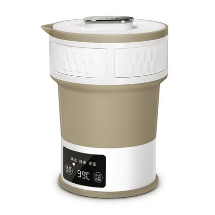 生活元素i25折疊電熱水壺燒水壺迷你旅行宿舍小型便攜式旅游家用電水壺定制