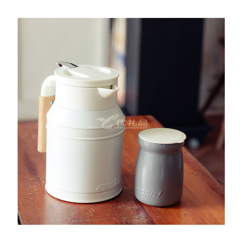 mosh家用办公室不锈钢真空可旋转保温保冷壶系列定制