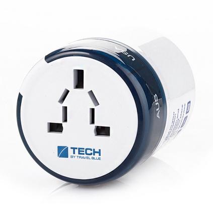 英國TravelBlue/藍旅 全球通用轉換插頭出國旅行必備多功能電源轉換插座雙USB充電轉換插座定制