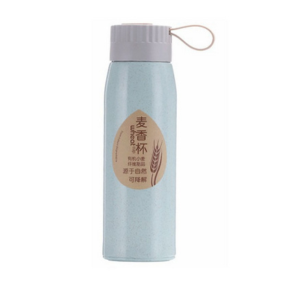新款小麥秸稈雙層保溫水杯麥香水杯定制