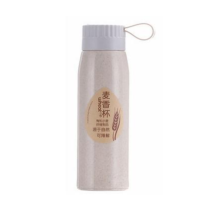 新款小麦秸秆双层保温水杯麦香水杯定制