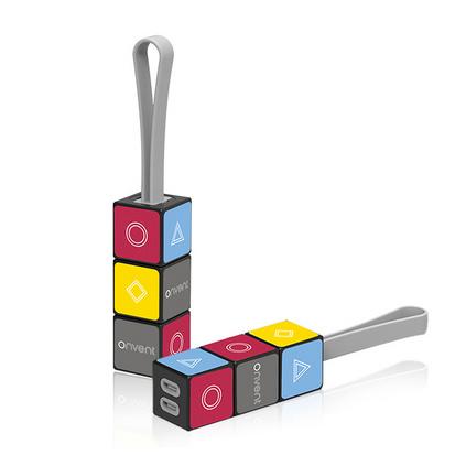 创意一拖三数据线 旋转魔方数据线可当钥匙串适合多种机型需求多功能充电线定制
