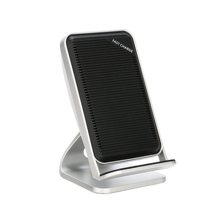 桌面散熱無線快充 無線充手機通用立式快速無線充電器定制