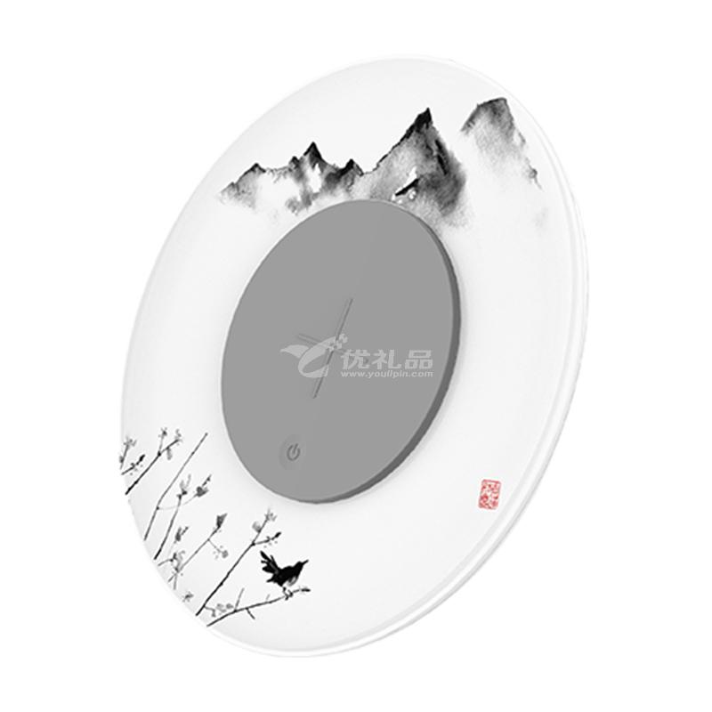 創意桌面級無線充氛圍燈中國風智能LED夜燈照明 多功能手機無線充電器定制
