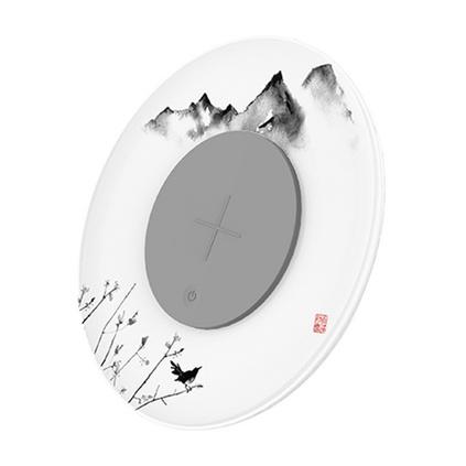 创意桌面级无线充氛围灯中国风智能LED夜灯照明 多功能手机无线充电器定制
