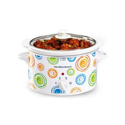 美國漢美馳 自動檔家用白瓷內膽2.5升美式電燉鍋定制