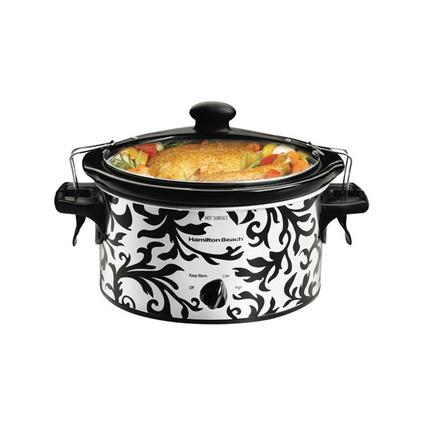 美國漢美馳 煲湯煲粥陶土內膽旋鈕式3.5升美式電燉鍋定制