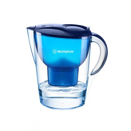 西屋(Westinghouse) 過濾凈水器 家用濾水壺 凈水壺 3.5L寶藍色 濾水壺(4個濾芯裝) WT-B02    定制