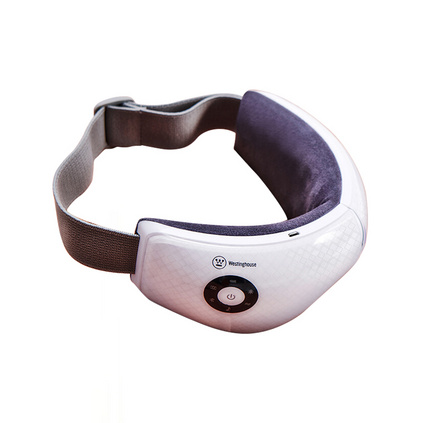 美國西屋 眼部按摩儀熱敷護眼儀按摩器眼睛眼部熱敷眼罩按摩儀眼保儀 白色-格子紋 WEN-C150  定制