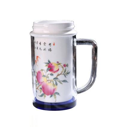景德鎮納米陶瓷杯 青花瓷保溫杯  雙層保溫杯   定制