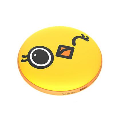 創意卡通圓形暖手寶熊貓小黃雞充電寶迷你移動電源暖手寶定制