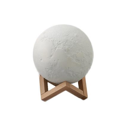 亞馬遜創意3D打印月球燈觸控感應七彩月亮燈床頭夜燈定制