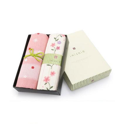日本內野(UCHINO)和風古系列毛巾2條裝禮盒定制