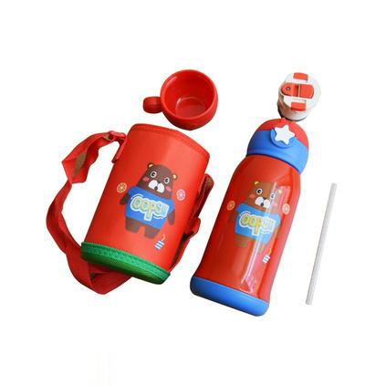 儿童星星保温杯不锈钢吸管宝宝水杯幼儿园男女学生保温水壶   定制