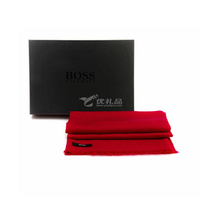 BOSS披肩TH025新年禮品圍巾定制 春節紅色披肩定制