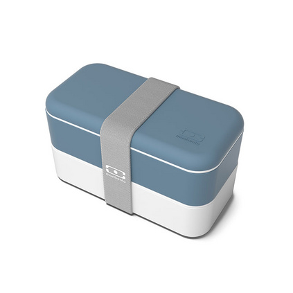 monbento 雙層飯盒日式分隔便當盒保鮮可微波爐加熱塑料飯盒  定制