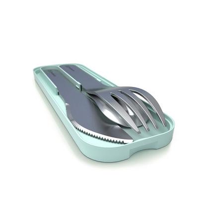 法國monbento餐具三件套便攜家用ins便當餐具套裝 不銹鋼刀叉勺   定制