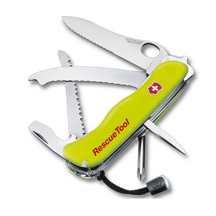 維氏(VICTORINOX)瑞士軍刀 救援工具111mm(14種功能) 隨車寶破窗器帶刀套 逃生工具小刀具定制