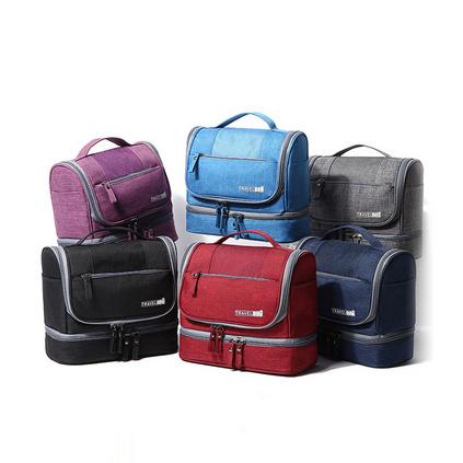 新款旅行化妝包 防水干濕分離包 大容量旅行包便攜掛鉤洗漱包   定制