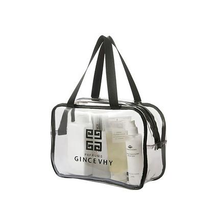 新款pvc白色透明拉鏈洗漱包大容量旅行收納化妝包   定制