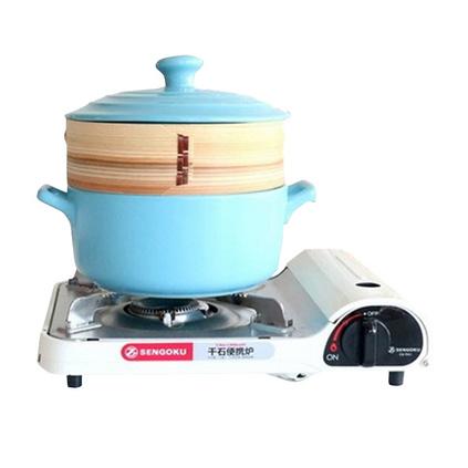 Dirk 琺瑯日式螺紋耐熱蒸籠陶瓷砂鍋煲湯鍋圓形鍋定制