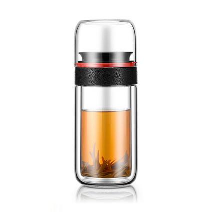 爆款茶水分離雙層玻璃杯車載商務杯   定制