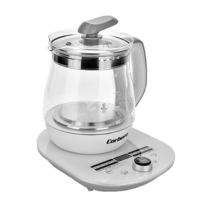 Corbero智能養生壺 KR-BL003 1.8L全自動加厚玻璃多功能家用辦公室小型煮茶器煮粥壺定制