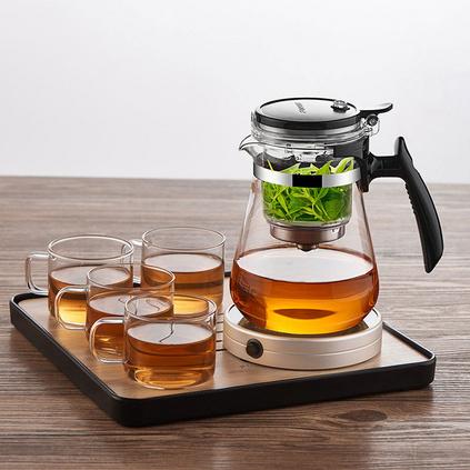 福容KD700 全玻璃內膽飄逸杯 700ml短嘴泡茶壺   定制