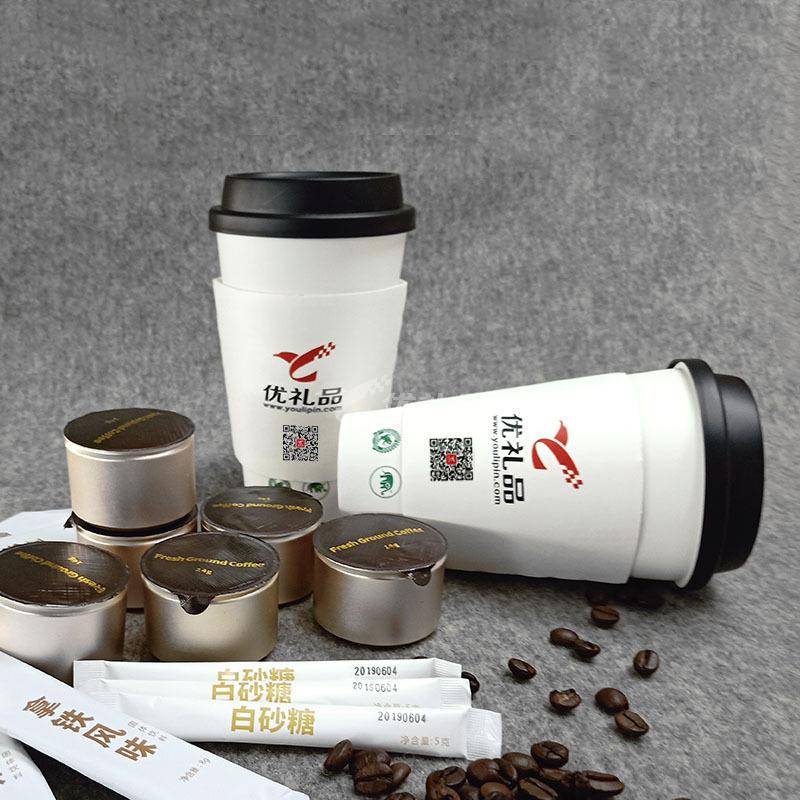 優禮品傾情推出 有機認證咖啡(小罐裝)三種風味可供選擇 手沖咖啡杯定制 6杯/盒