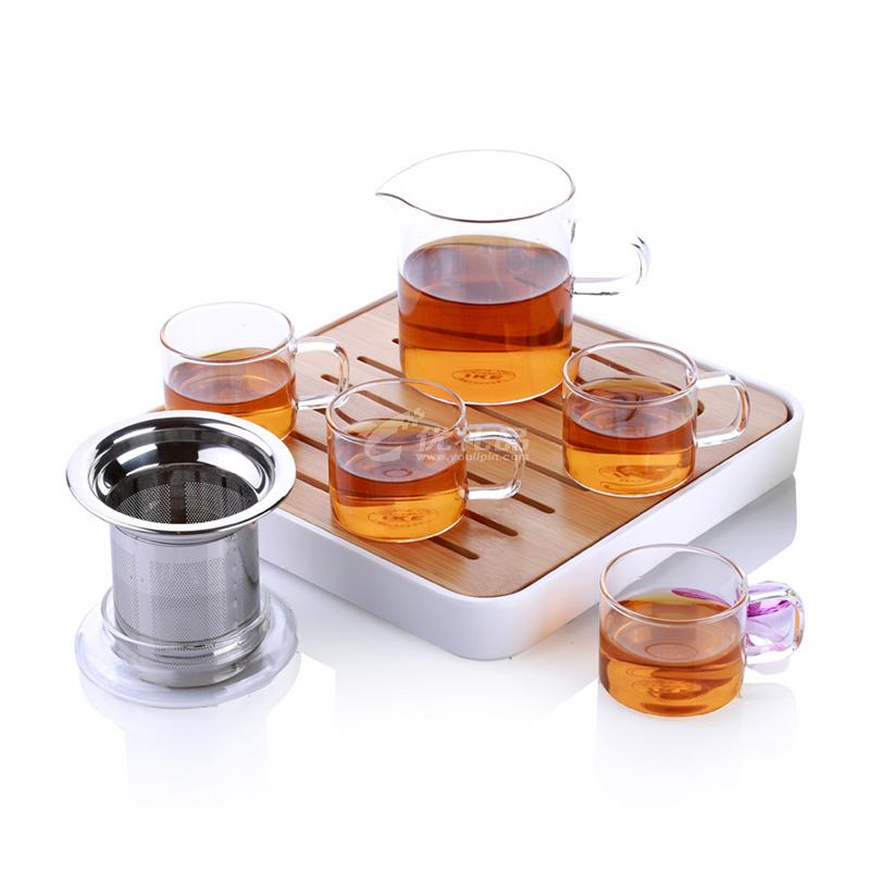 IKE一柯旅行茶具套裝YK-C608A高硼硅玻璃茶具禮盒裝耐熱玻璃公道杯茶具定制