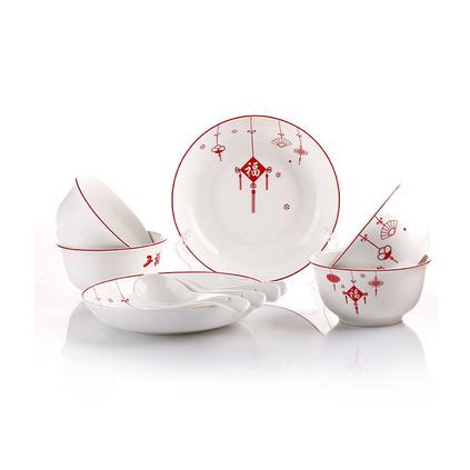 愛依瑞斯 AS-D1211H 福星高照 碗盤勺子餐具套裝定制