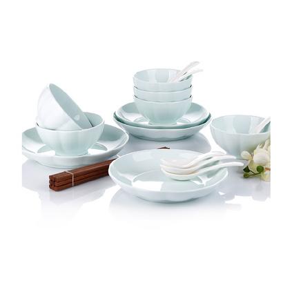 18頭餐具套裝 AS-D1801H 金瓜青瓷碗筷盤子勺子套裝定制