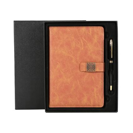 a5帶扣筆記本子商務禮盒套裝文具辦公仿皮記事本定制