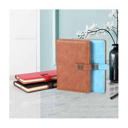 a5带扣笔记本子商务礼盒套装文具办公仿皮记事本定制